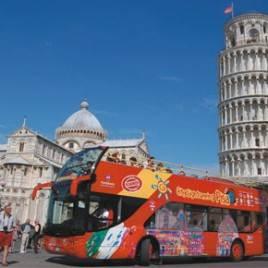 Onibus City Sightseeing em Livorno, Pisa e Florença
