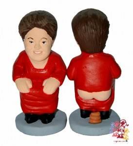 Até a Dilma Rousseff ganhou sua versão caganer
