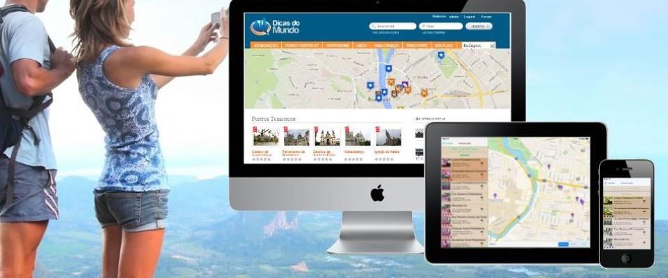 Baixe o app móvel* para iPhone ou Android e viaje com o mundo no seu bolso