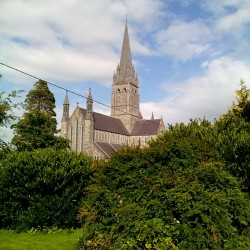 St. Mary's Cathedral vista de dentro do parque